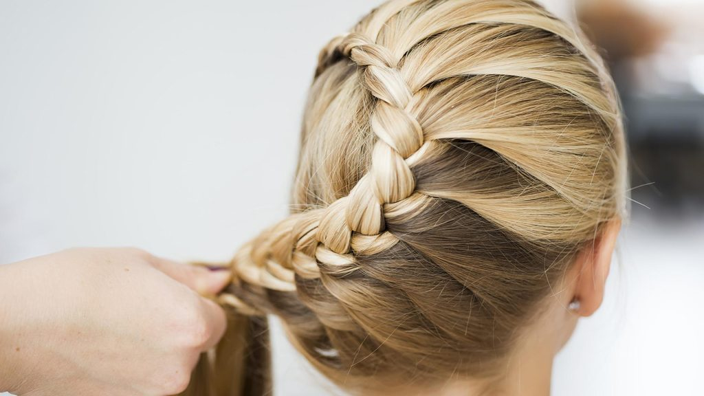 Elegant braided hairstyle