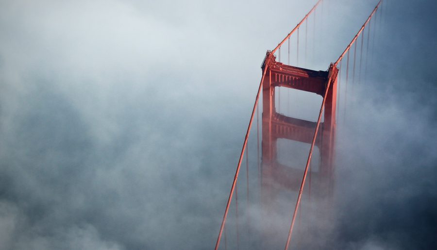 Mist All Around The Golden Gate Bridge